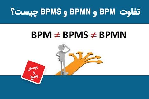 تفاوت BPM وBPMN وBPMS